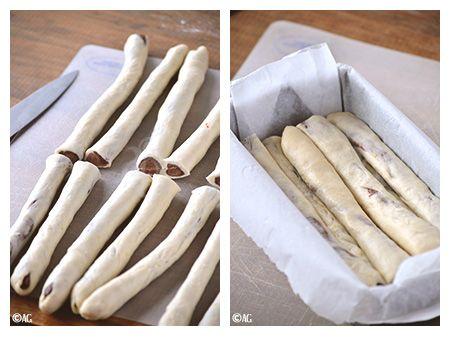 Gateau avec pain brioche