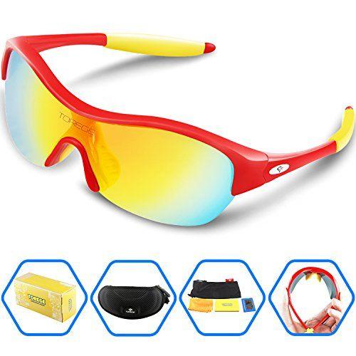 12b5ae97eb 2017 Sunglasses Torege Tr90 Flexible Kids Sports Sunglasses Polarized  Glasse.