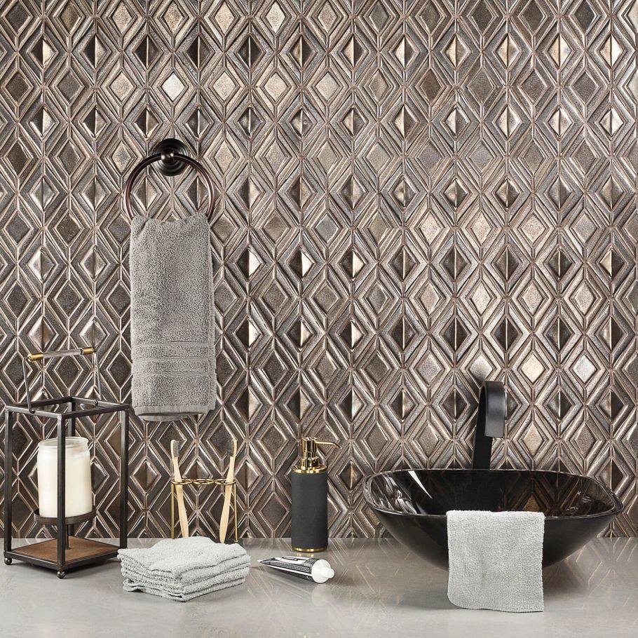 Nabi Jewel Metallic Copper Polished Ceramic Tile Polish Ceramics How To Polish Copper Ceramic Tiles