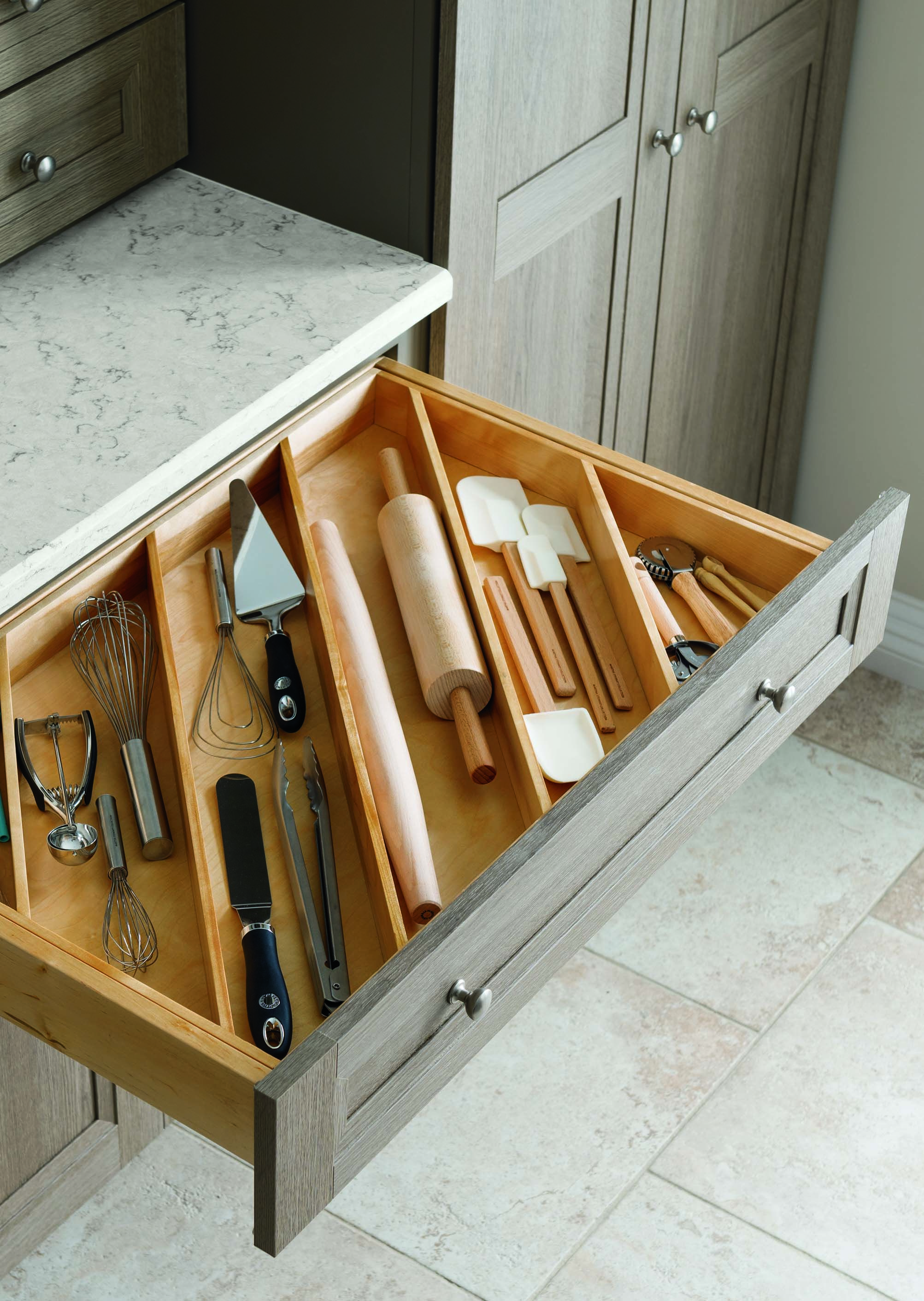 Say Goodbye To Tangled Kitchen Gadgets With #MarthaStewartLiving Drawers  Designed To Store Utensils Of Any