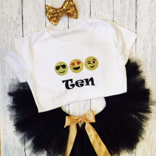 Emoji Birthday Outfit , Little Hearts Company