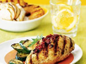 Grilled Chicken Breasts Provençal #grilledchickenparmesan Grilled Chicken Breasts Provençal Recipe | MyRecipes #grilledchickenparmesan