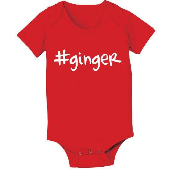 # Ginger Irish  Red Head  Baby  Funny  Newborn  Gift Red Toddler T-Shirt