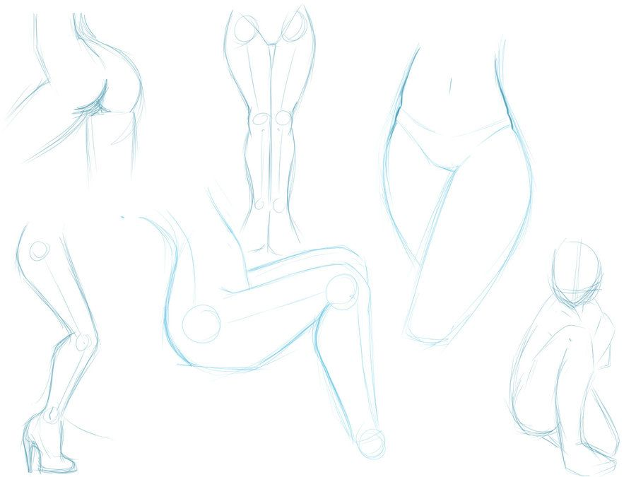 Female Leg Anatomy Sketches by MizMaxter.deviantart.com on ...