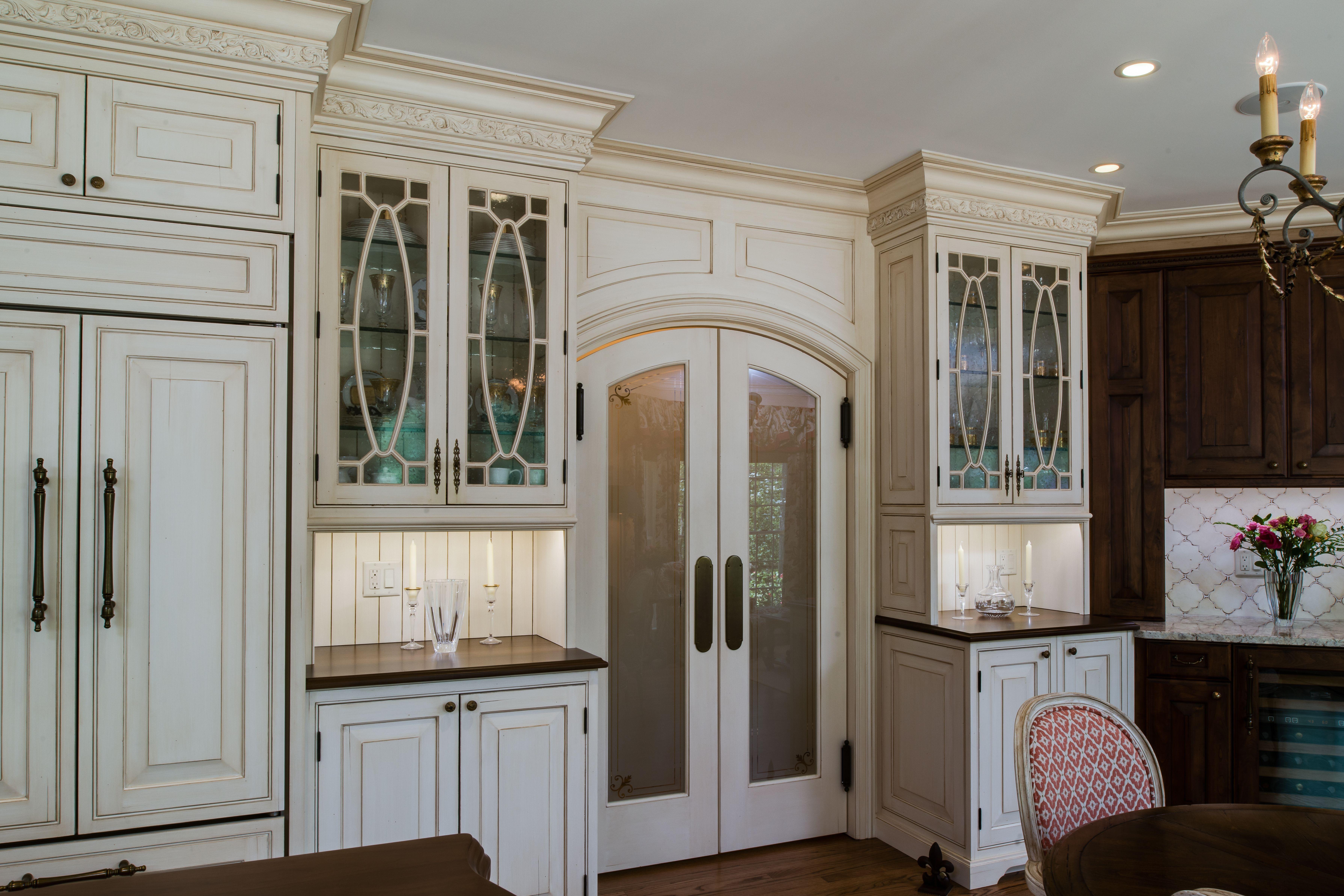 Decorative Glass Kitchen Cabinet Doors