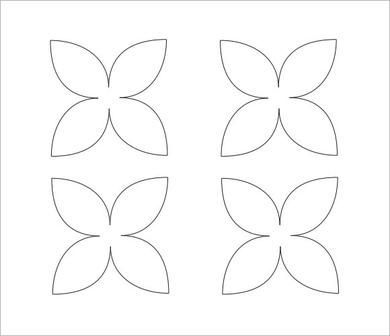 Flower Petal Template - 9+ Download | Fleur | Pinterest | Flower