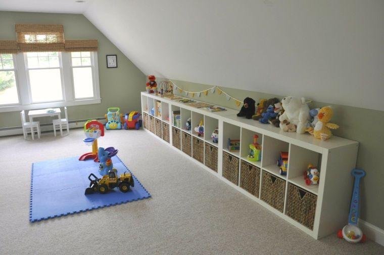 rangement salle de jeux enfant 50 id es astucieuses d co pinterest playroom attic. Black Bedroom Furniture Sets. Home Design Ideas