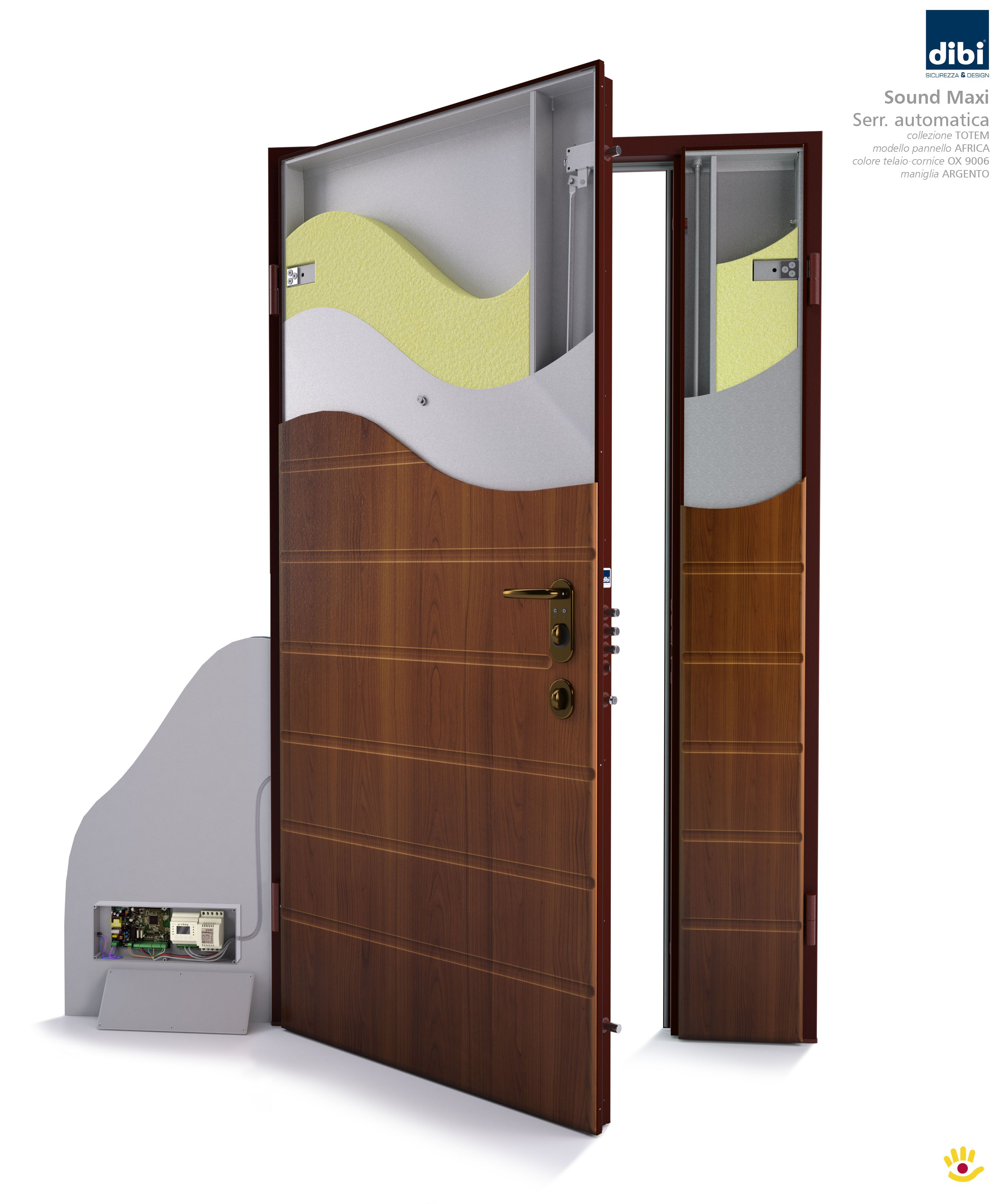 Colori Pannelli Porte Blindate model opentech, two doors- the security door to customize