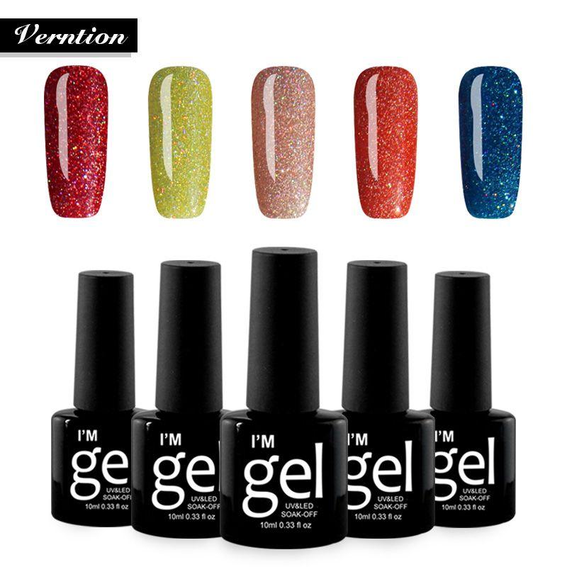 Verntion Neon Gel Varnish Art vernis semi permanent cheap gel top ...