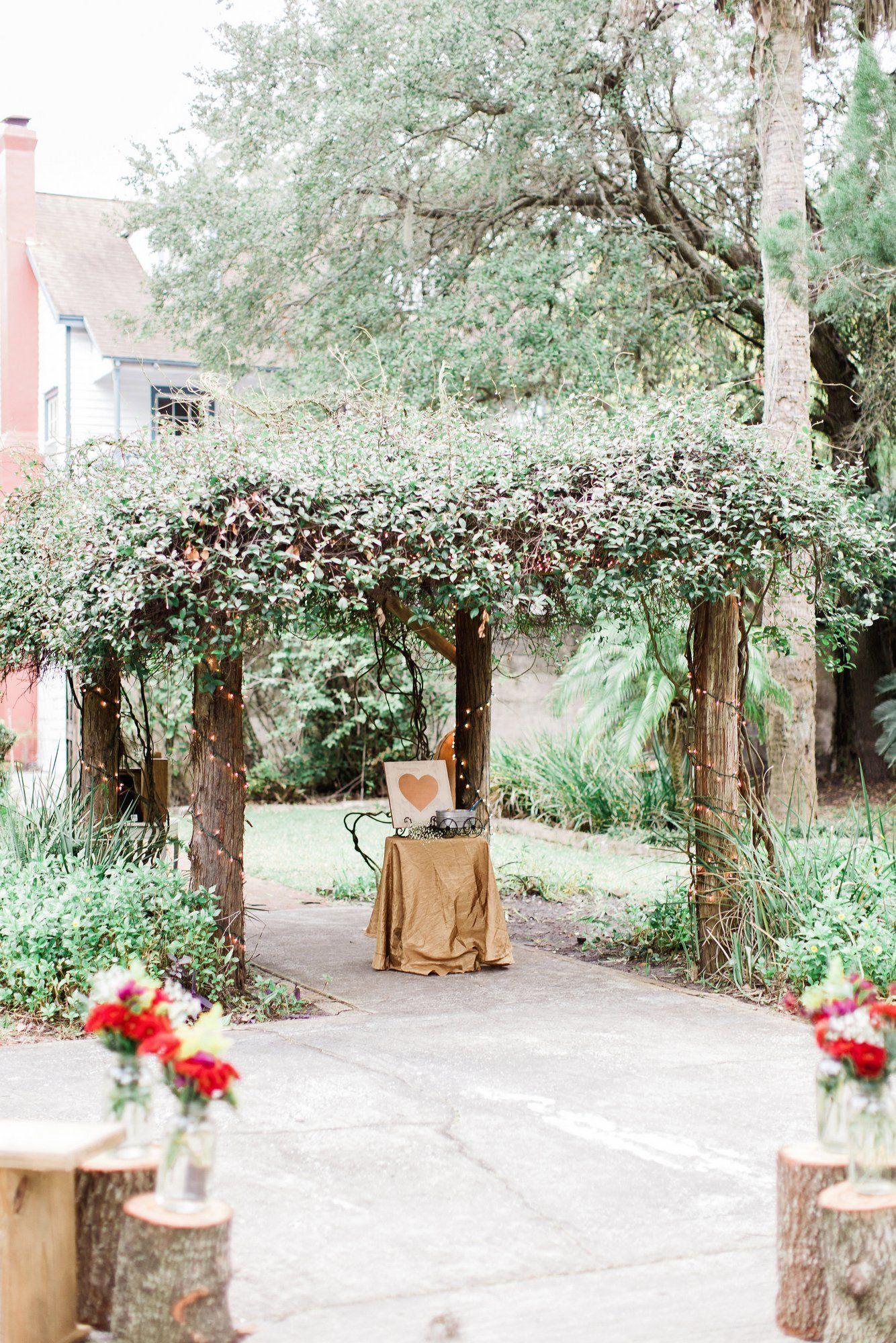 bohemian rustic garden wedding in florida - Rustic Garden 2015