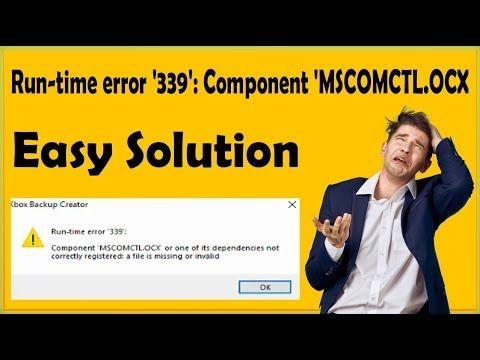 How To Fix Runtime Error '339' On Windows 10