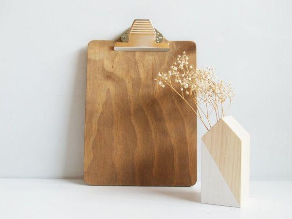 """Inventa nuevos usos para nuestro """"clipboard"""" de madera. Puedes utilizarlo para…"""
