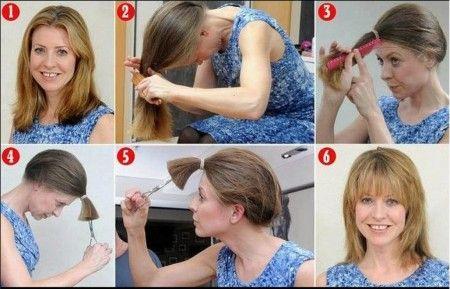 Se couper les cheveux long soi meme