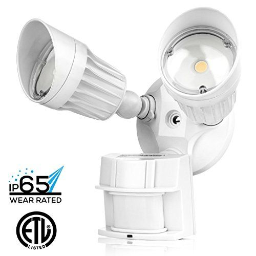 Hyperikon led security light 20w 100w equivalent 1800lm 5000k hyperikon led security light 20w 100w equivalent 1800lm 5000k crystal white glow waterproof ip65 ul 40 mozeypictures Gallery