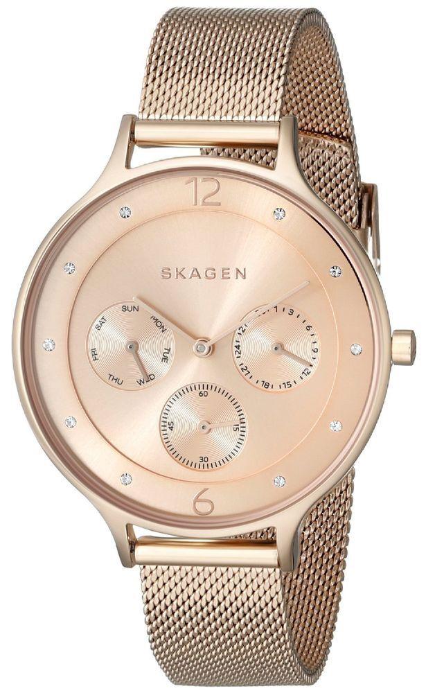 b3d0eb9795d Skagen Women s SKW2314  Anita  Chronograph Crystal Rose-Tone Watch  Skagen   Fashion