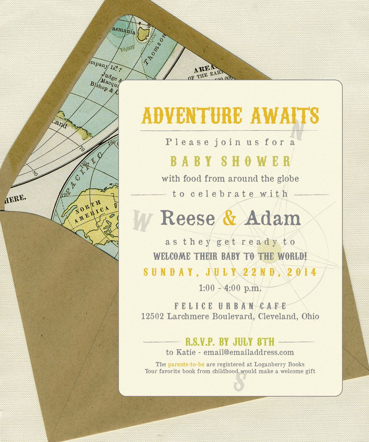 Welcome To The World Baby Shower Invites. $3.50, Via Etsy.
