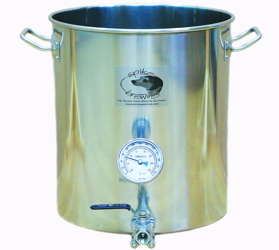 10 Gallon Brew Kettle Stainless Steel With 2 Vertical Couplers Home Brewery Home Brewing Steel House