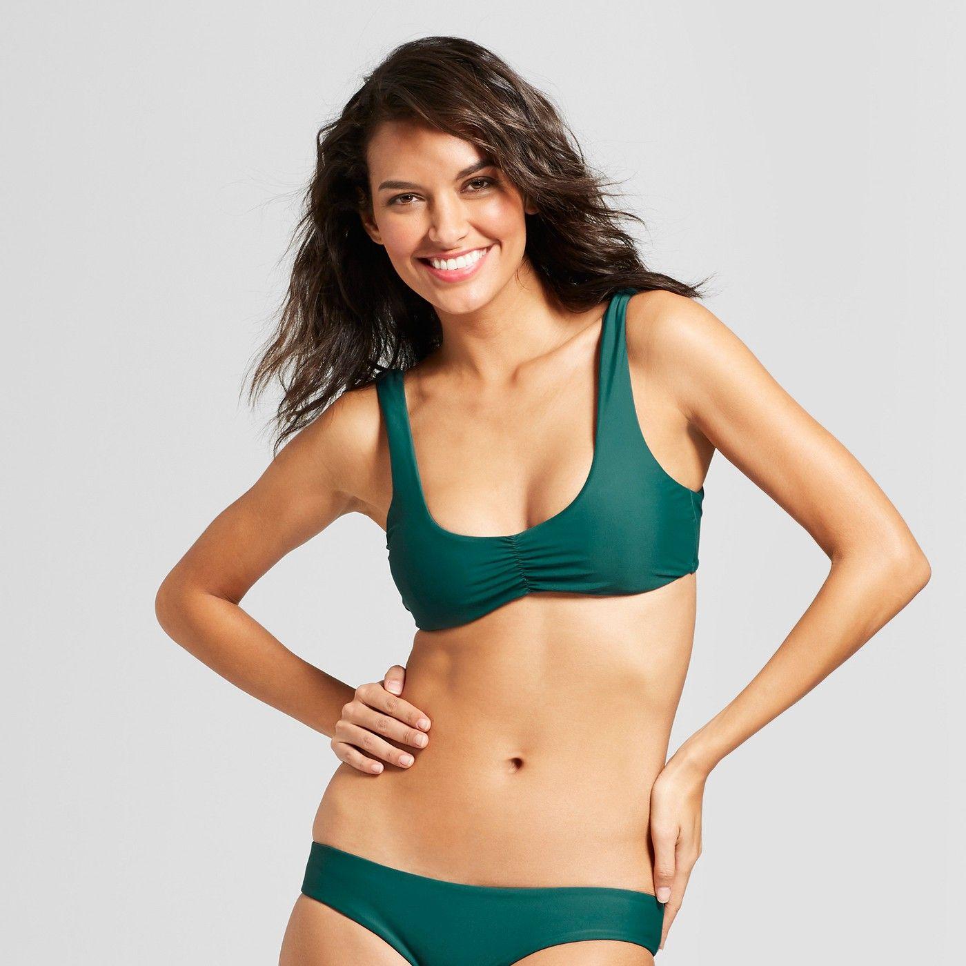 74c95342f5b0e Tori Praver Seafoam Women s Bralette Bikini Top - Forest Green D DD Cup   Women