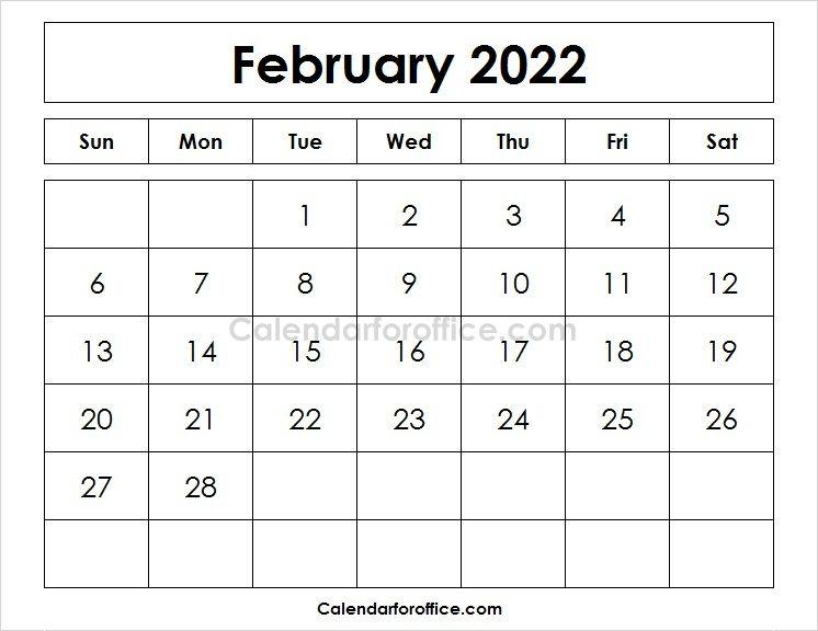 New 2022 February Calendar Planner Calendar Template April Calendar Printable May Calendar Printable