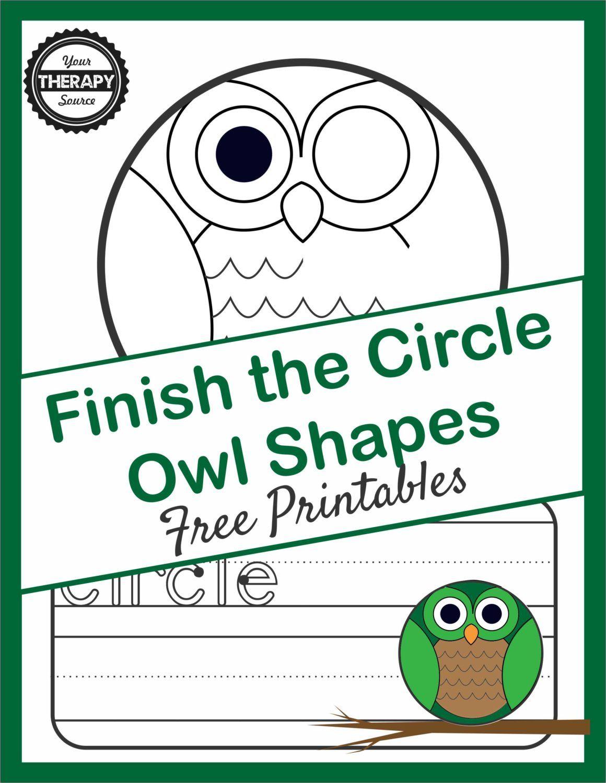 Finish the Circle Shape Owl - Visual Closure and Visual Motor Skills ...