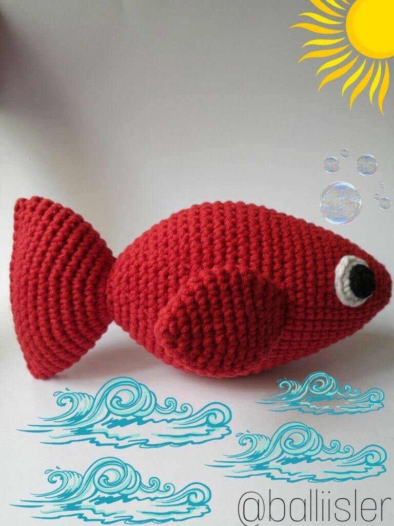 Amigurumi Kırmızı Balık Yapımı #amigurumimodelleri