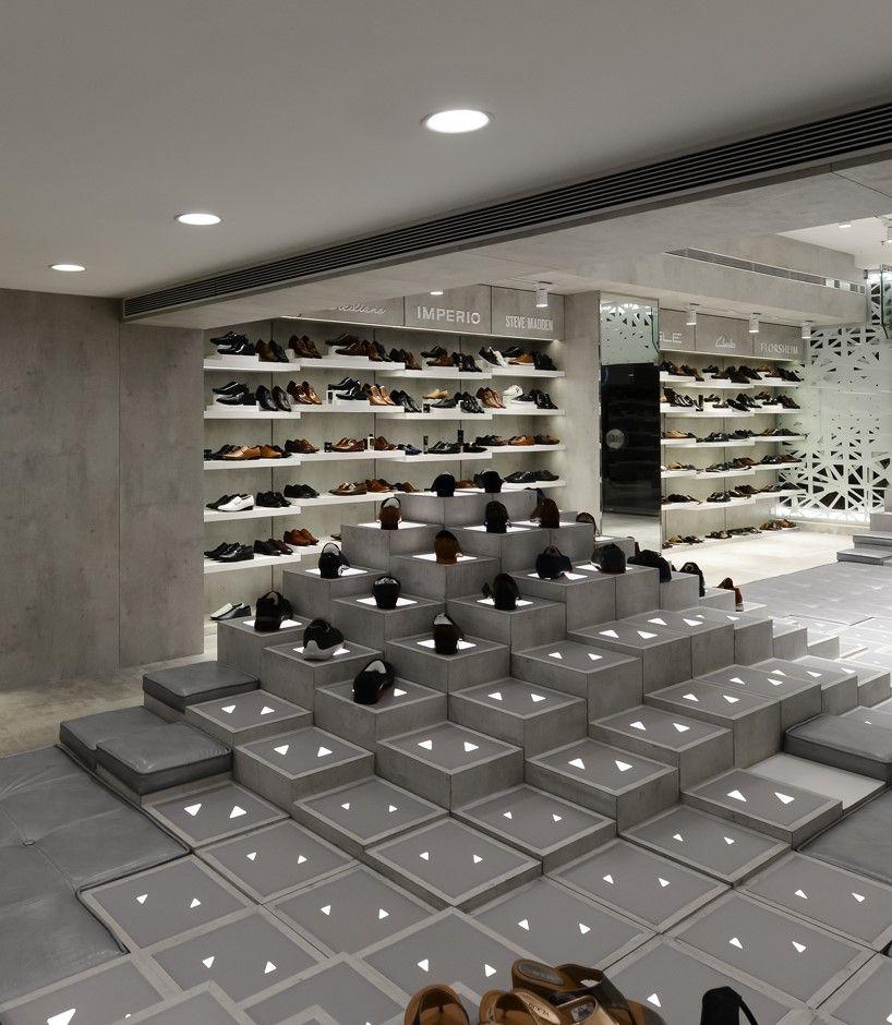 Regal shoes showroom design interior design pinterest retail design design and showroom for Interior design for shoes shop