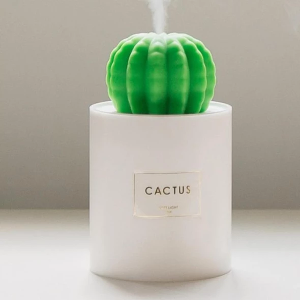 Cute Cactus USB Air Diffuser Humidifier Night Light Up Home Relaxing Defuser UK