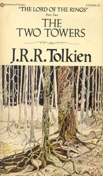Lotr Book Cover Art : The two towers ballantine with tolkien cover these books