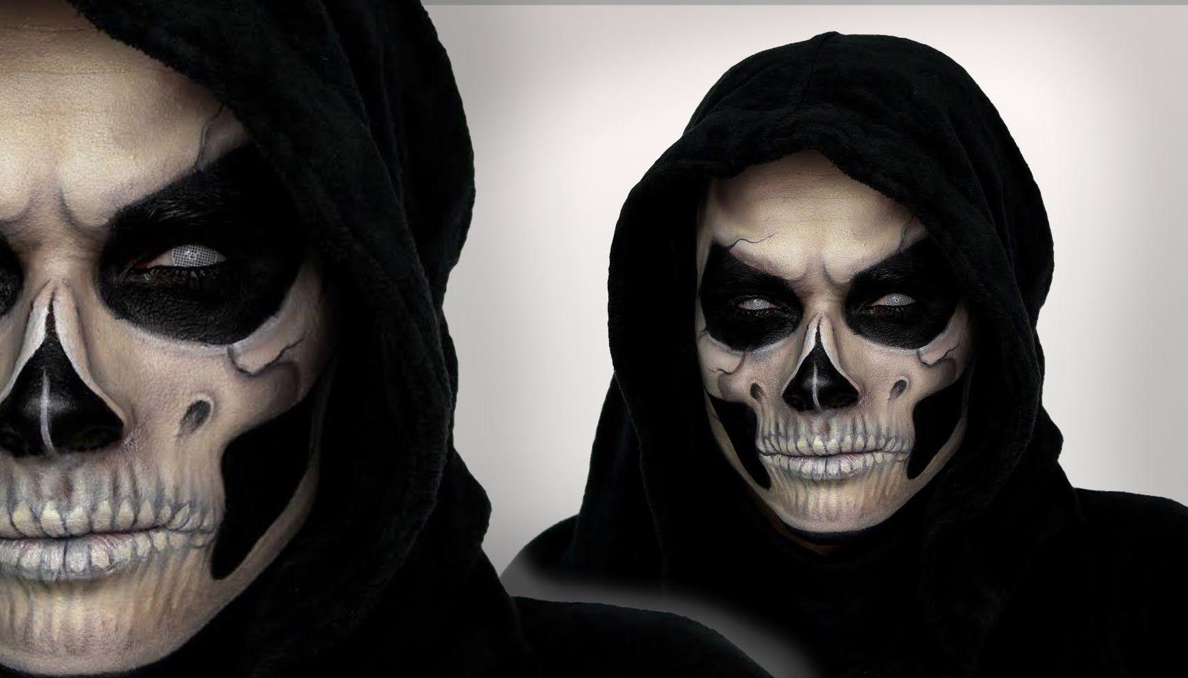 Einzigartig Halloween Schminken Männer Dekoration Von Grim Reaper Makeup Tutorial For | Shonagh
