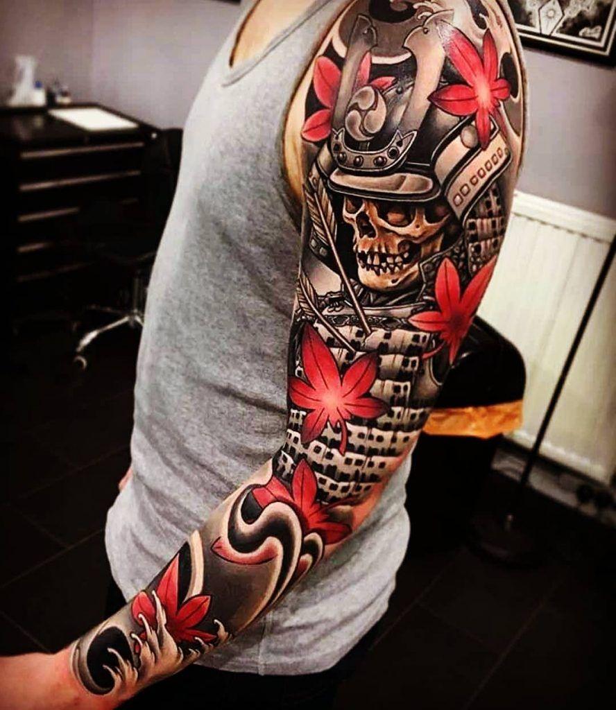 значение тату самурай эскизы и 115 тату на теле татуировки
