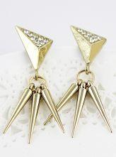 Gold Crystal Spike Stud Earrings $6.69