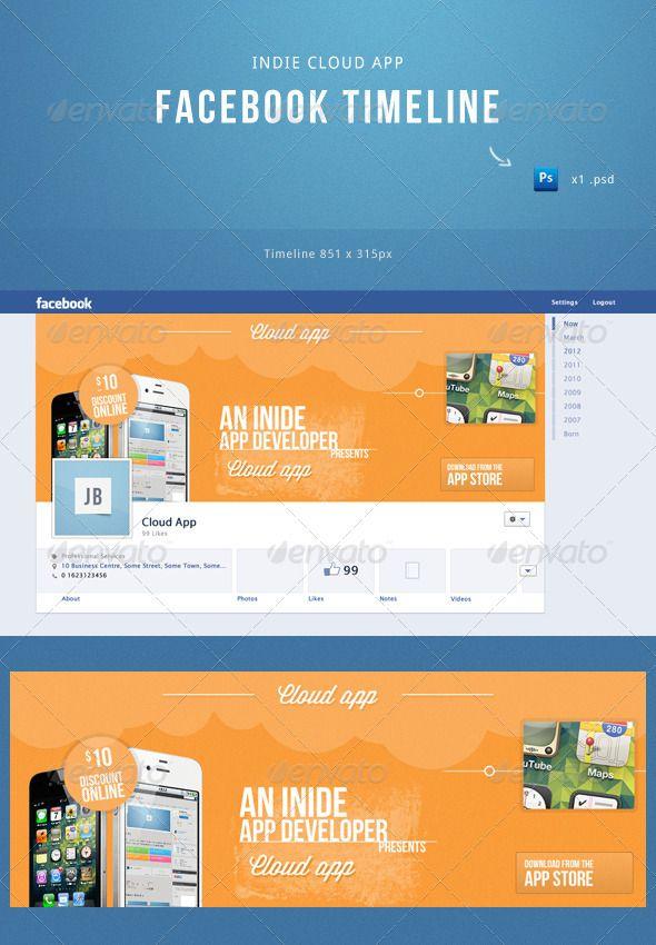 Indie Cloud App Facebook Timeline Template  Facebook Timeline
