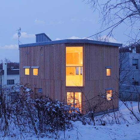 small box house by Akasaka Shinichiro Atelier, Sapporo, Japan