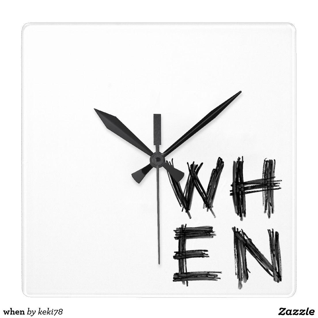 when square wall clock