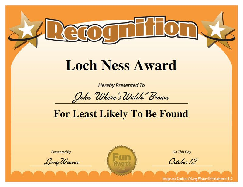 funny employee awards - Google Search Work thanks Pinterest - copy printable employee of the month certificate
