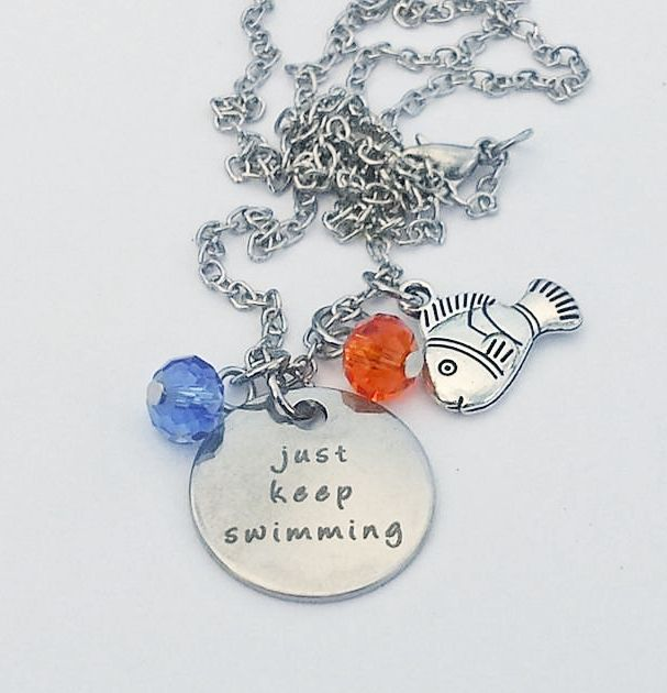 Just Keep Swimming Finding Nemo Inspired Necklace via Small Obsession. Click on the image to see more!