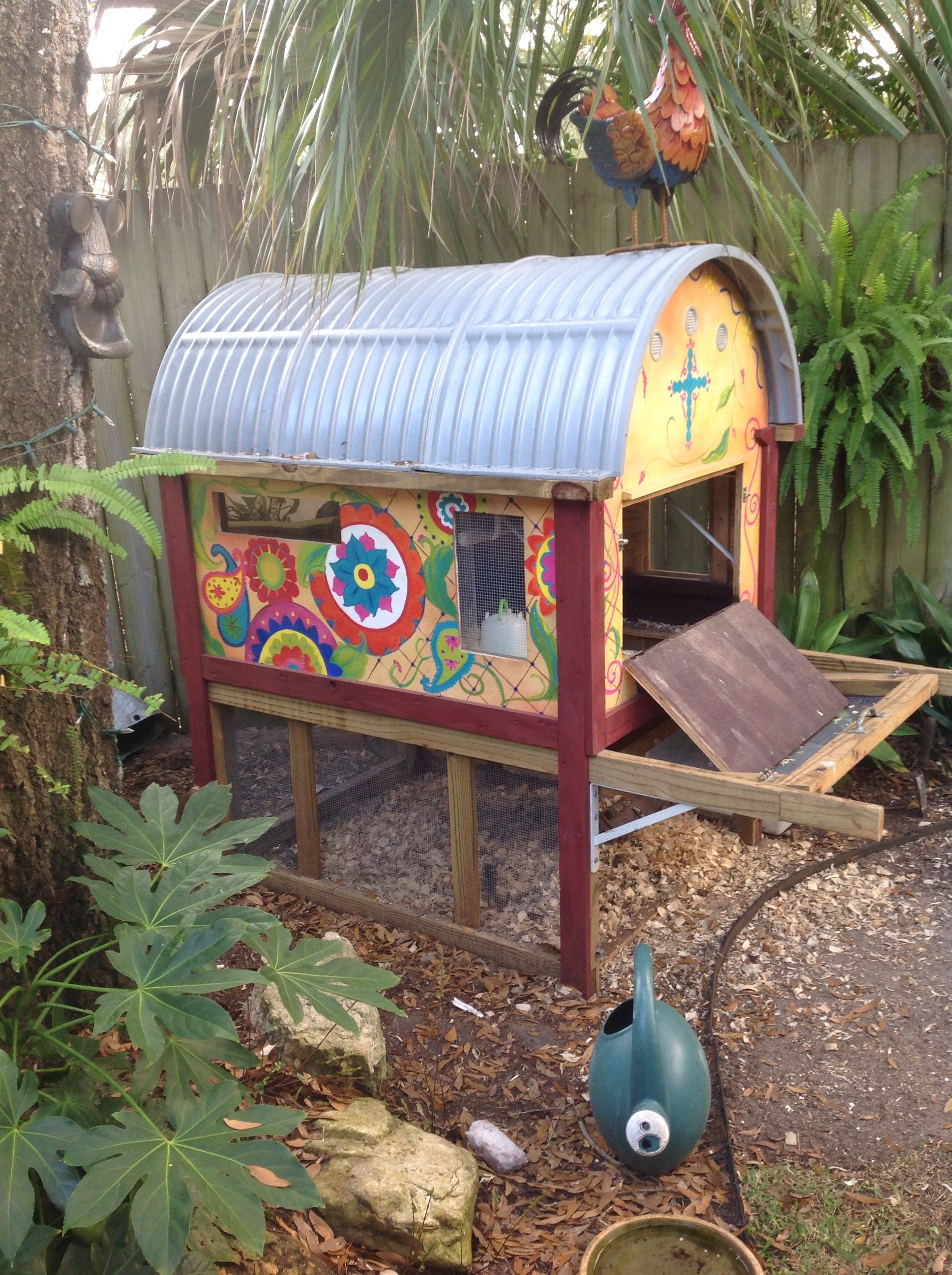 Hand Painted Chicken Coop By Eden Chickens Backyard Chicken Coop Chickens