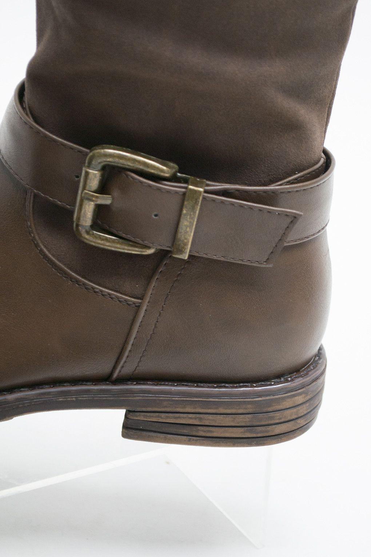 Blazin' Brown Buckle Women's Riding Boot