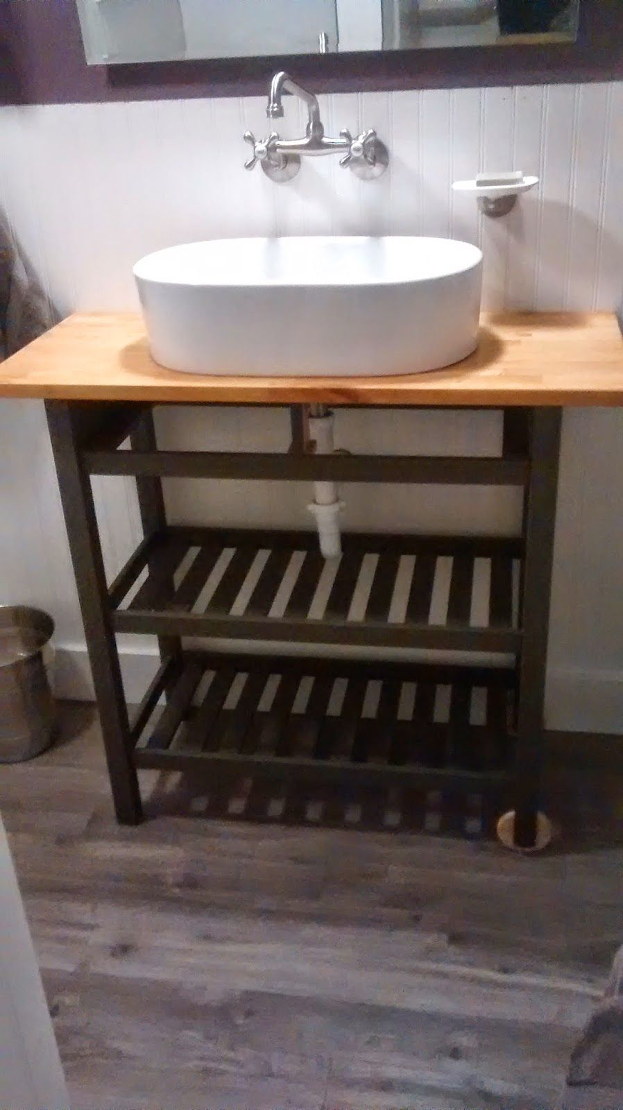 Once Upon An Acre Ikea Kitchen Cart Hack Turning A Boring Kitchen Cart Into A Fabulous Bathroom Vanit Remodel Bedroom Kids Bedroom Remodel Ikea Kitchen Cart