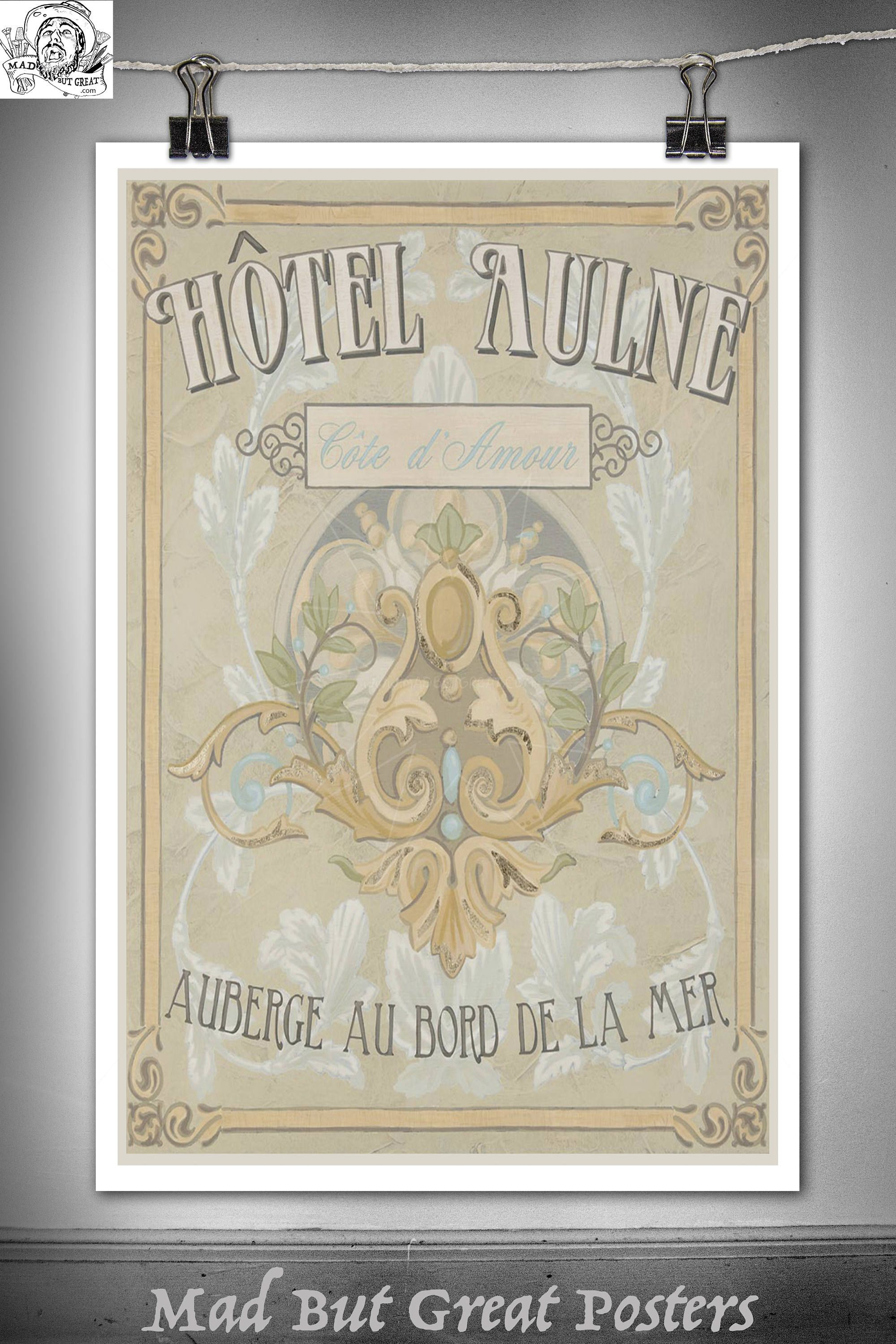Hotel Aulne - Cote 'amour Retro Sign Canvas
