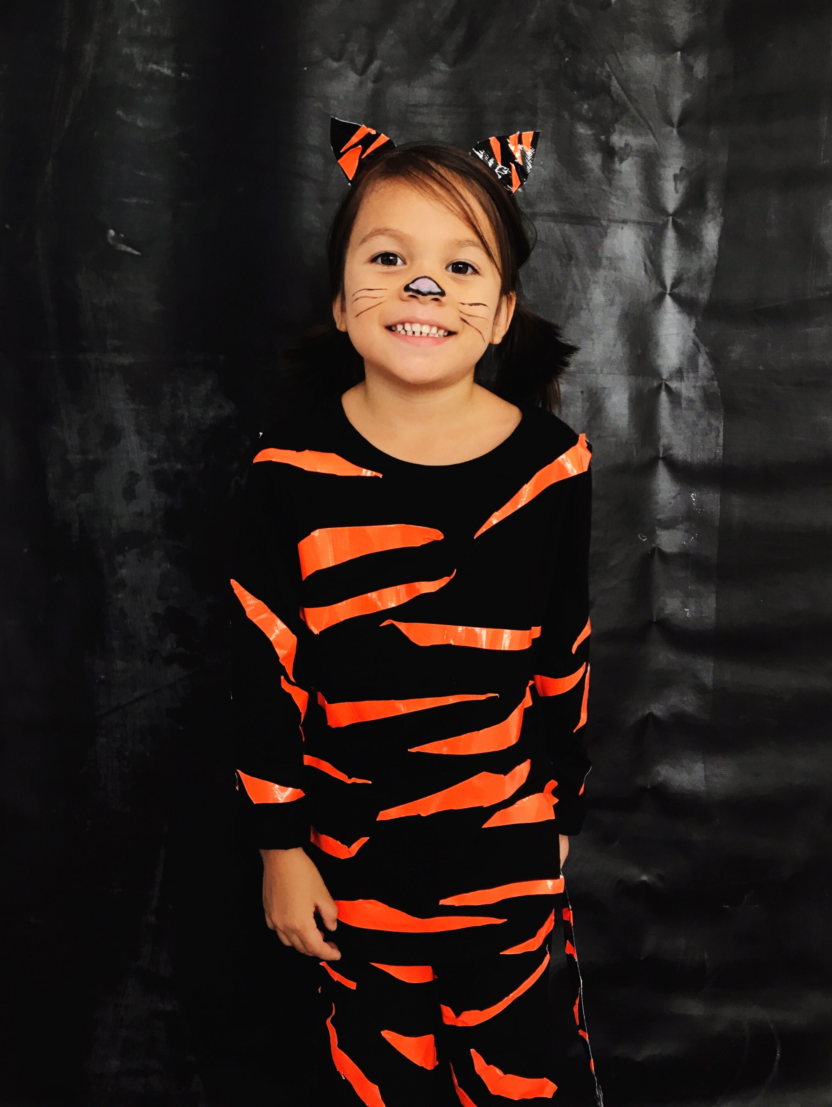 Diy Duct Tape Tiger Costume In 2019 Tiger Halloween