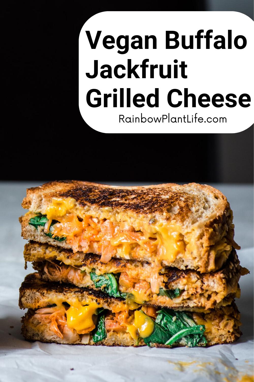 Buffalo Jackfruit Vegan Grilled Cheese Rainbow Plant Life In 2020 Vegetarian Dishes Healthy Vegetarian Sandwich Recipes Vegetarian Recipes Healthy