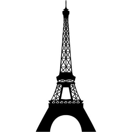 Eiffel tower small vinyl wall decal sticker by wallstickz 21 95
