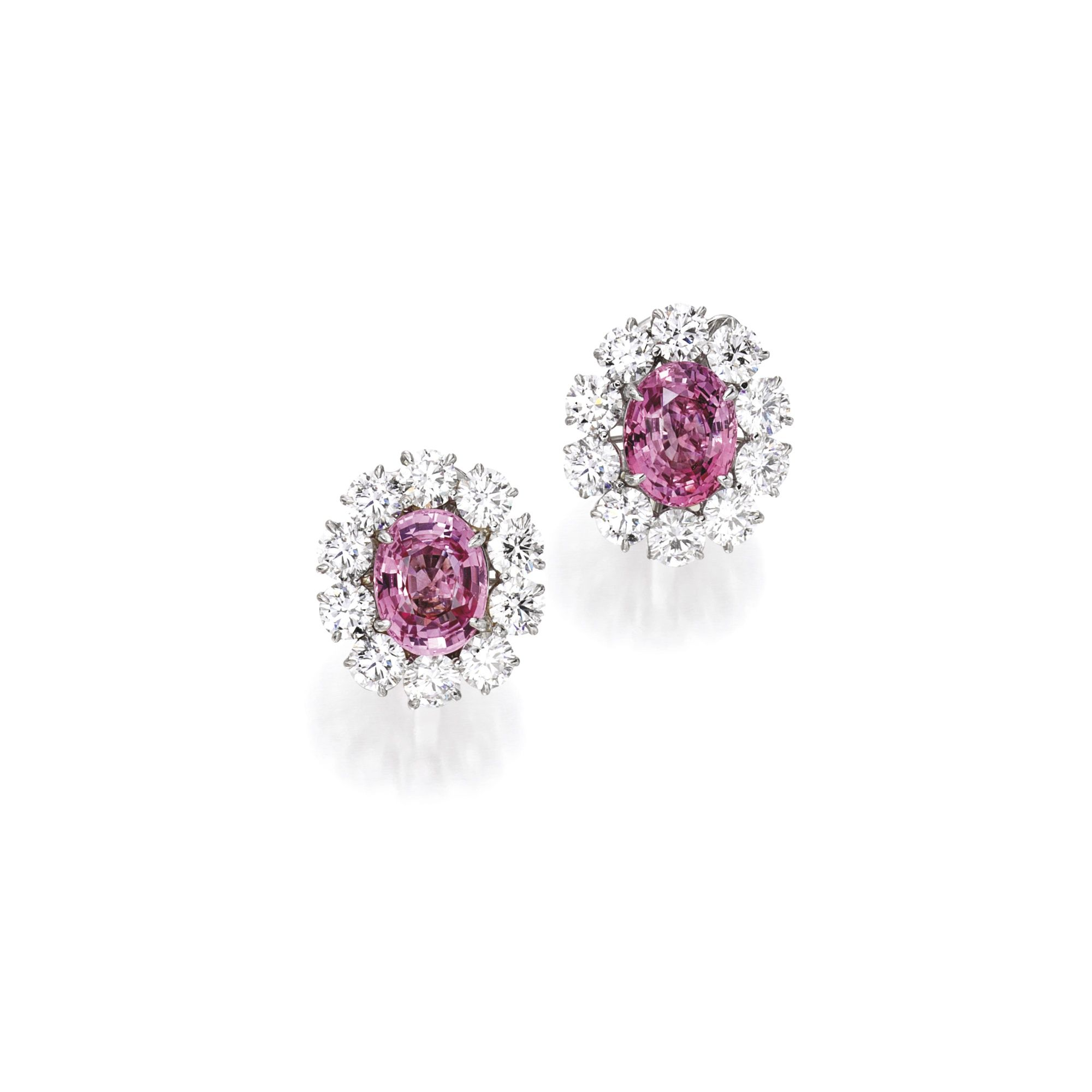 sapphire earrings prouctdetail round carat approximately padparadscha buy