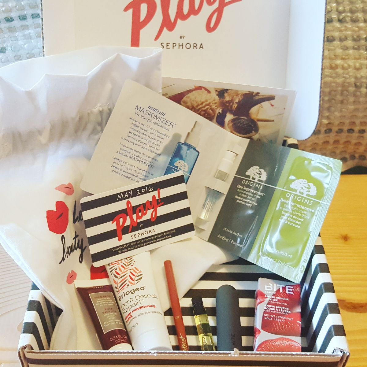 Yay!!! My first #PlayBySephora box I'm so excited to be off the #waitlist 😃May's box theme is The Force of Nature and features six products 💜Bite Beauty Amuse Bouche in Kim Kimchi Wow!…