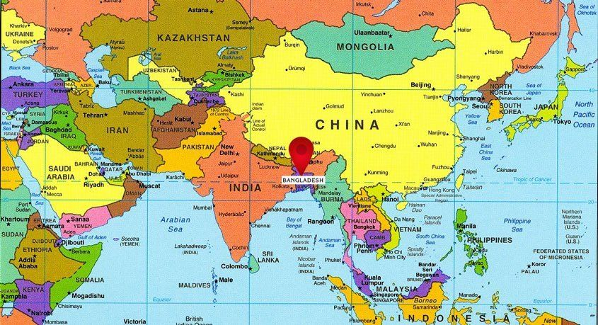 world map bangladesh location এর ছবির ফলাফল Asia map