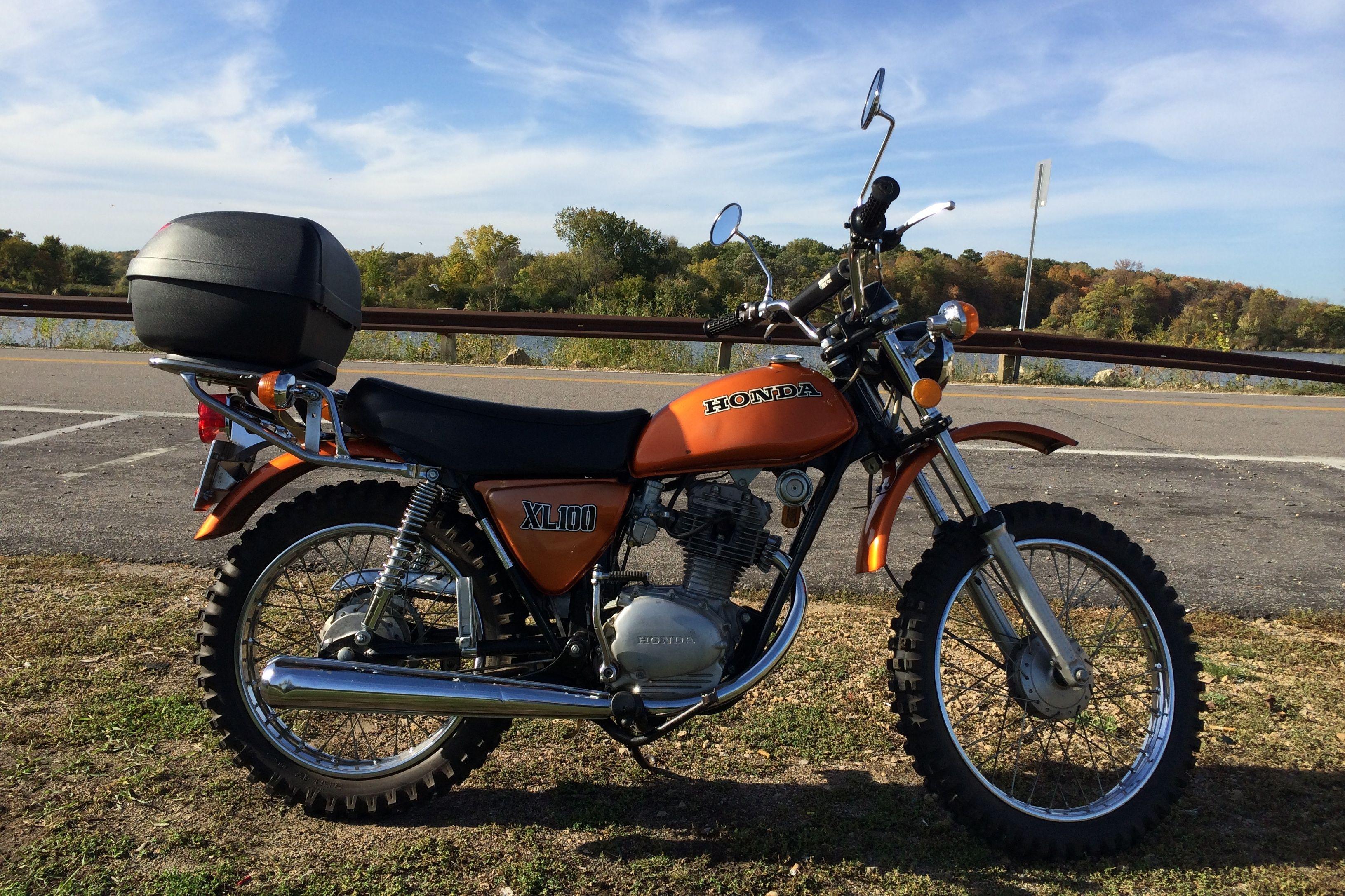 1974 Honda XL100 with NOS Honda CB125 Exhaust System ...