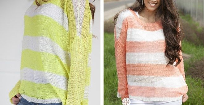 Myrtle Beach Knit Sweater! 2 Color Options!