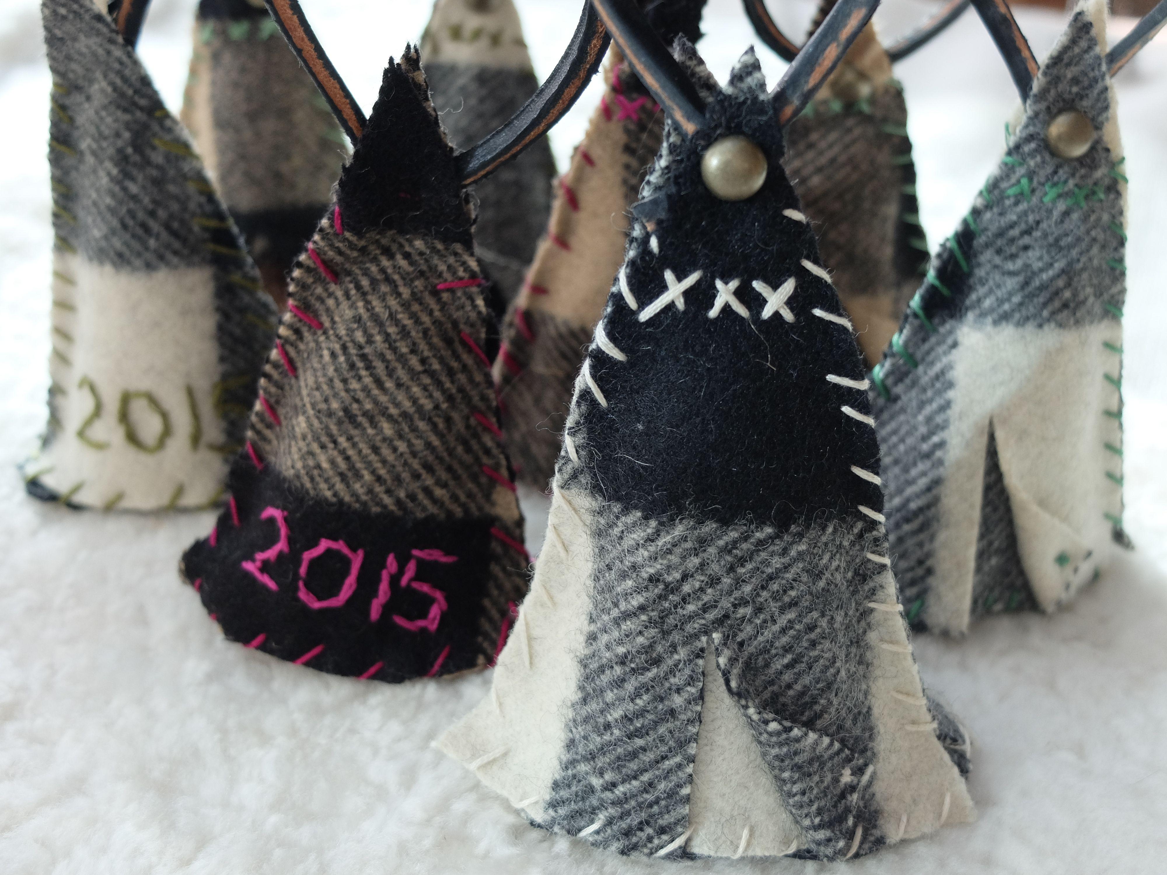 Pow Wow Teepee ornaments