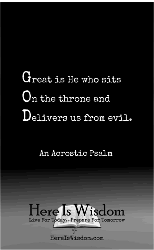 Pin By Ray Evans On Acrostic Psalms Spiritual Poems Acrostic Psalms